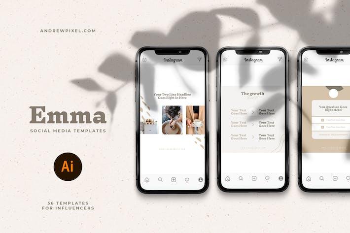 Thumbnail for Emma - Social Media Templates