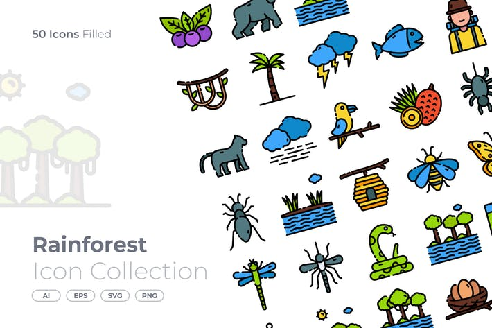 Rainforest Filled Icon