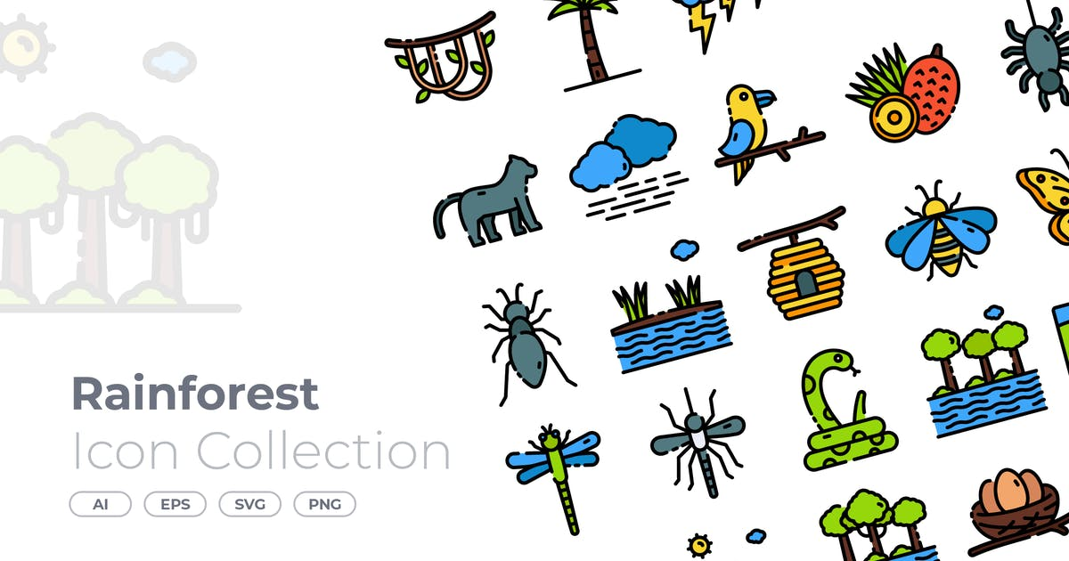 Download Rainforest Filled Icon by GoodWare_Std