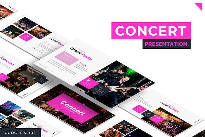 Thumbnail for Concert - Google Slide Template