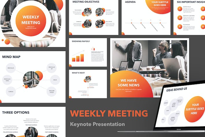 Thumbnail for Weekly Meeting Keynote Template