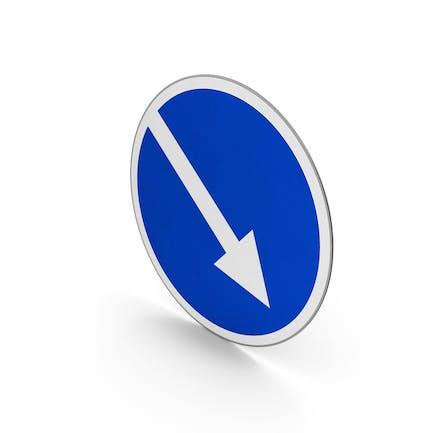 Verkehrszeichen rechts halten