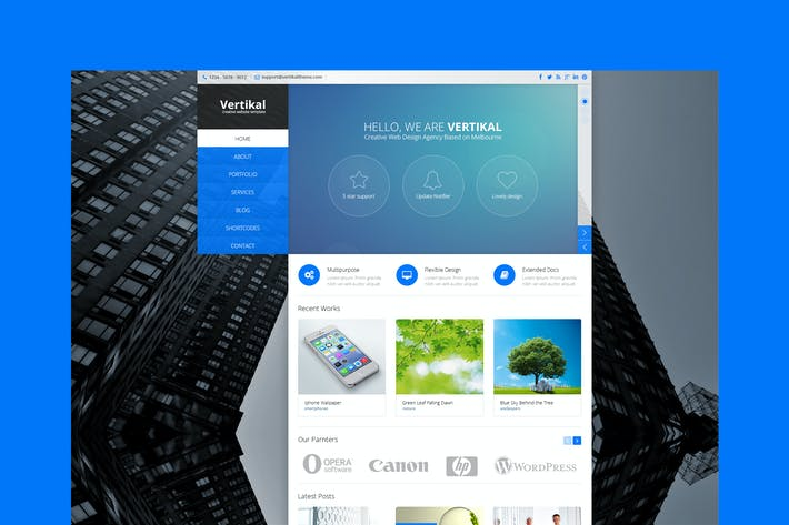 Thumbnail for Vertikal - Multipurpose HTML5 Template