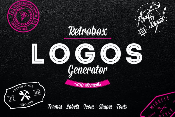 Thumbnail for Logo Generator Pack +800 Icons and Elements