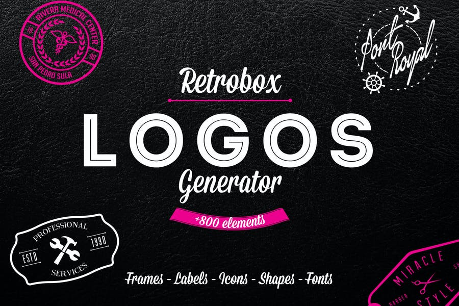 Logo Generator Pack +800 Icons and Elements