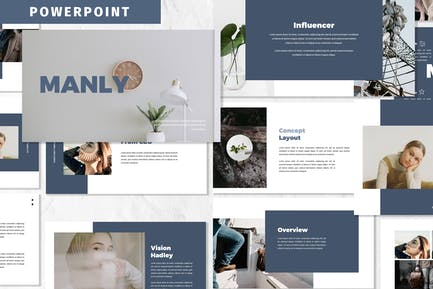 Manly - Business Powerpoint Presentation Template