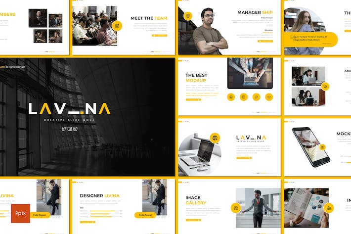 Thumbnail for Lavina - Creative Powerpoint Template