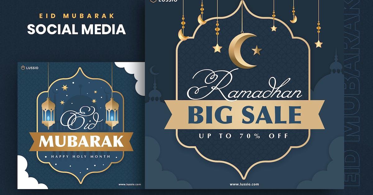 Download Eid Mubarak Social Media Template by Last40
