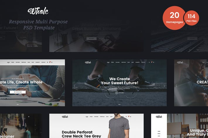 Thumbnail for Whole Business Multi-Purpose PSD Template