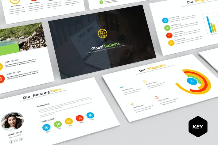 Thumbnail for Globe Biz - Keynote Template