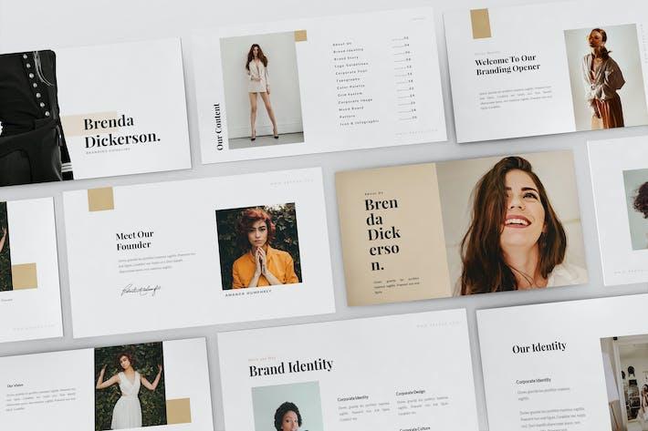 Thumbnail for Brenda - Brand Guideline Keynote Template