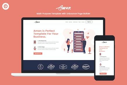 Aman — MultiPurpose Unbounce Landing Page Template