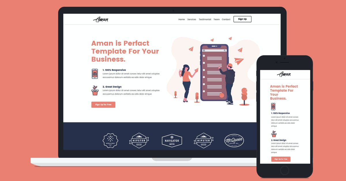 Download Aman — MultiPurpose Unbounce Landing Page Template by Divine-Store