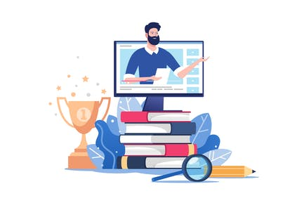 Educación en línea o formación Negocios