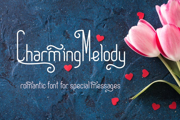 Thumbnail for CharmingMelody| romantic curly font