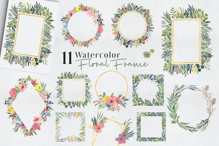 Thumbnail for Ofi 11 Watercolor Floral Frame