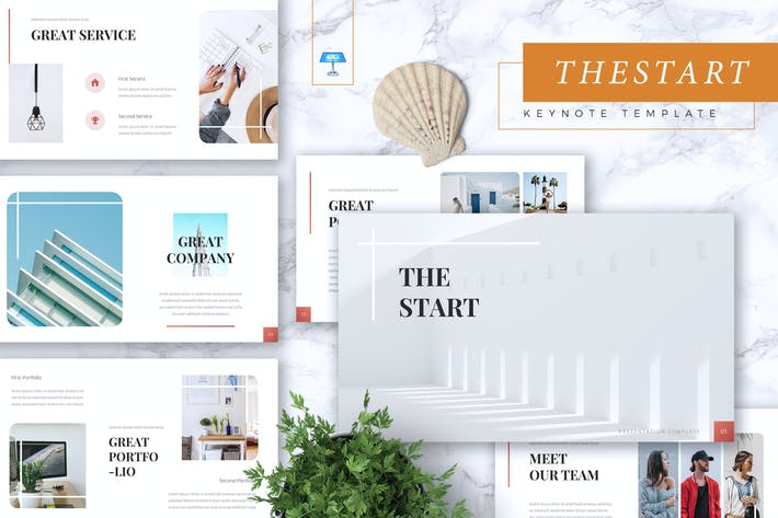 Thumbnail for THE START - Company Profile Keynote Template