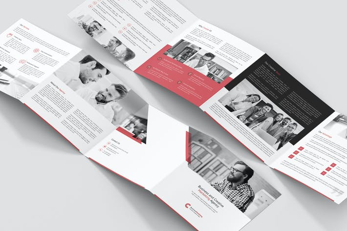Thumbnail for Brochure – Business Marketing 4-Fold Square
