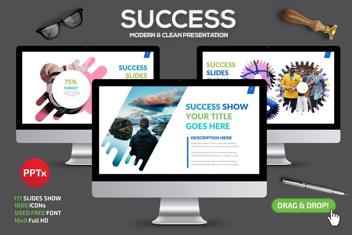 Cover Image For Success Powerpoint Template