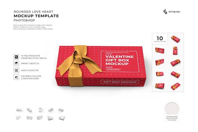 Gift Box Mockup Template Set