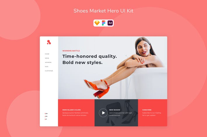 Thumbnail for Shoes Market Hero UI Kit