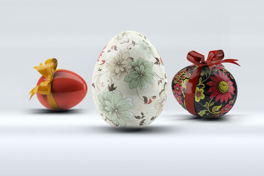 Easter Eggs Mock-Up