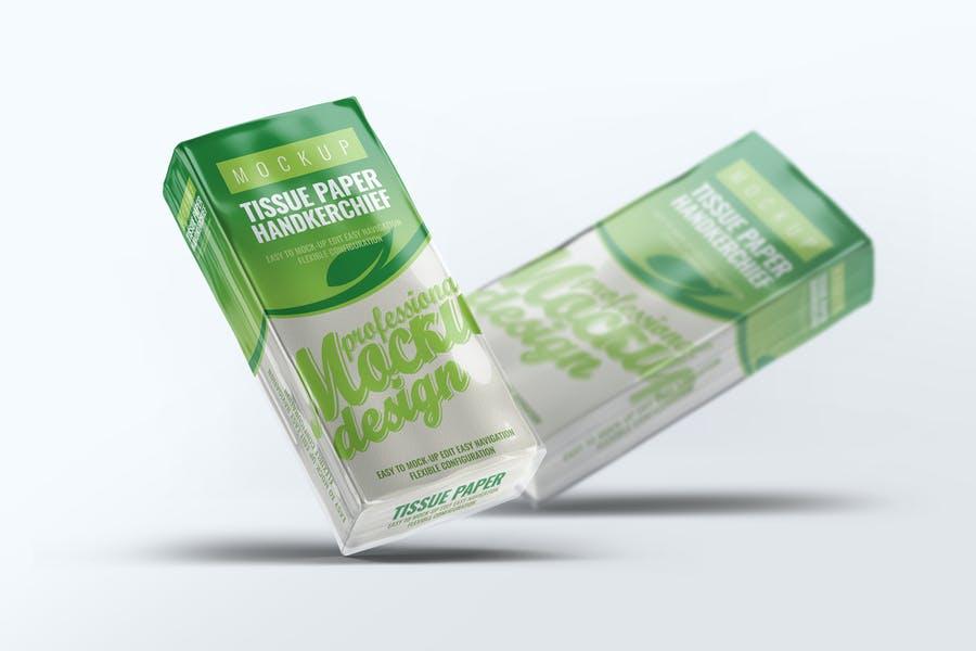 Tissue Paper Handkerchief Mock-Up