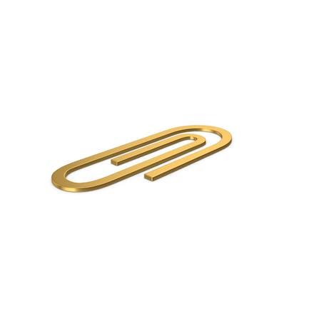 Gold Symbol Paper Clip