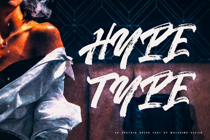 Thumbnail for Hypetype - Painted Brush Font