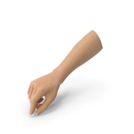 Manos sosteniendo una postura de instrumento de escritura