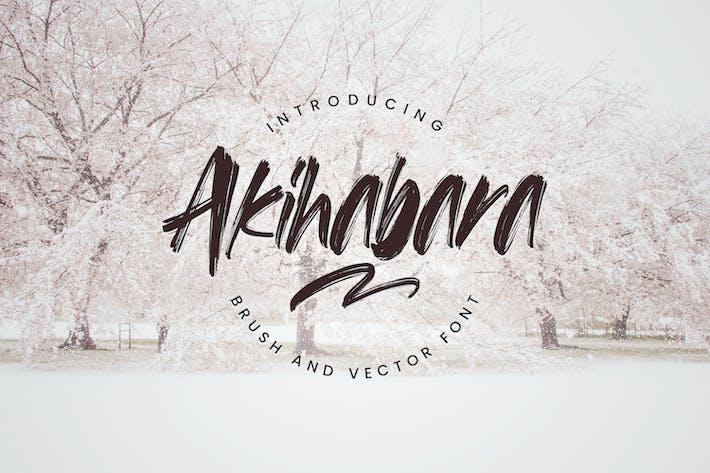 Akihabara - Brush & Vector Font