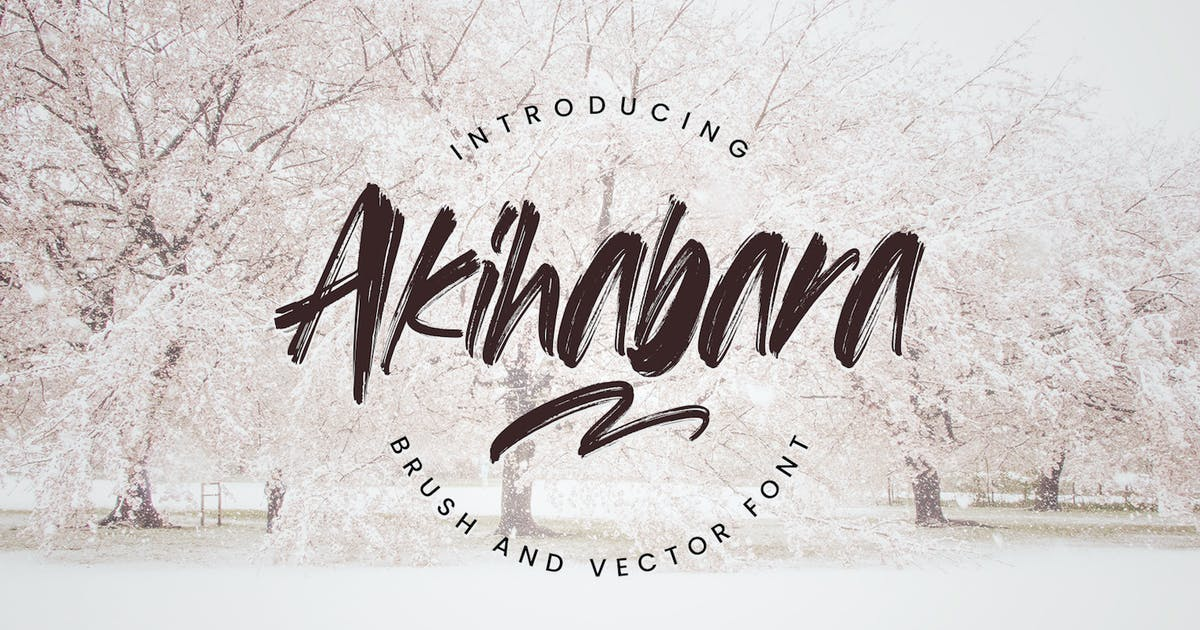 Download Akihabara - Brush & Vector Font by CocoTemplates