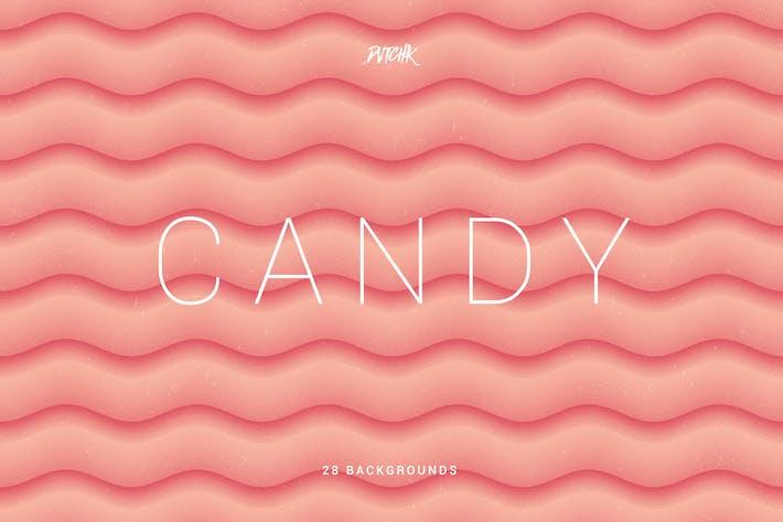 Thumbnail for Süßigkeiten | Weiche abstrakte gewellte Hintergründe