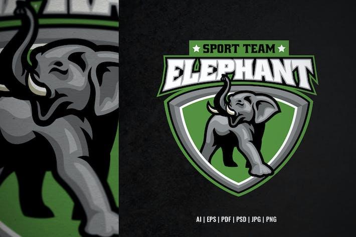African elephant sport logo