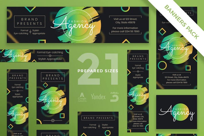 Fashion Agency Banner Pack Template