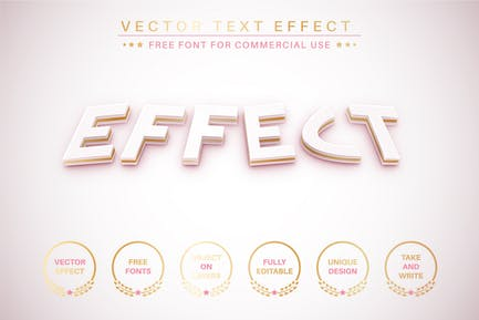 Gold braid - editable text effect, font style