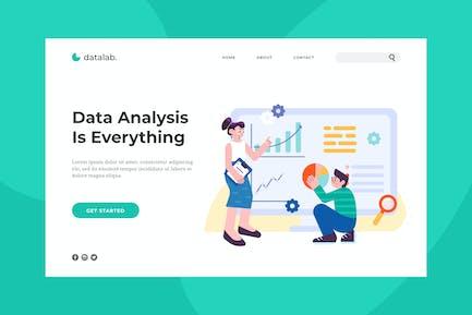 Page de destination Analyse des données
