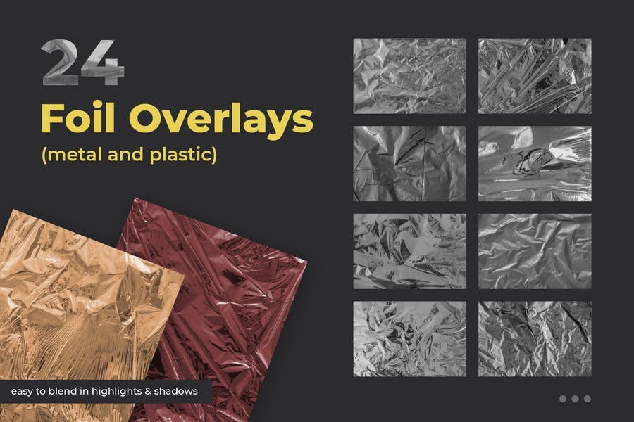 24 Foil Overlay Textures