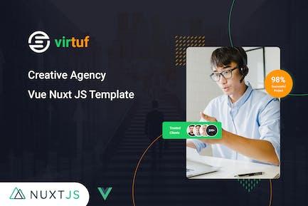 Virtuf — Agence Créative Vue Nuxt JS Modèle