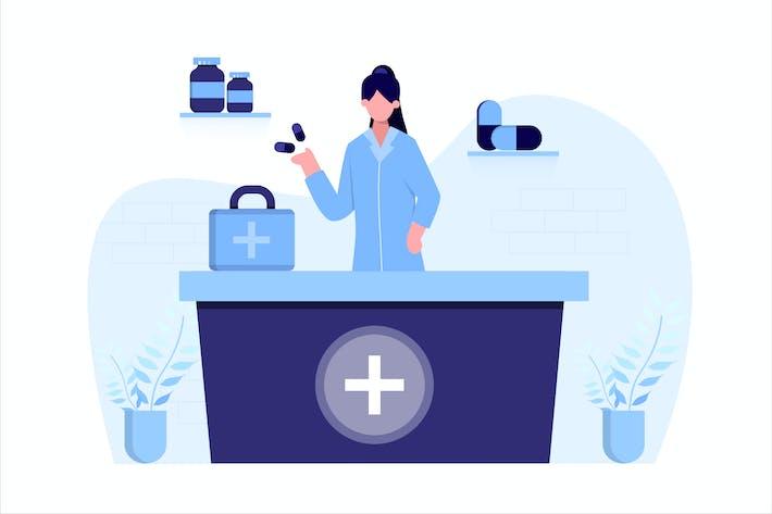 Thumbnail for Pharmacy Medical Flat Vector Illustration