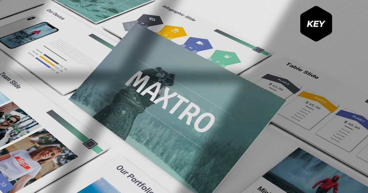 Download Maxtro - Keynote Template by aqrstudio