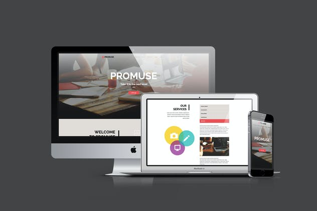 Promuse - Business Parallax Muse Template