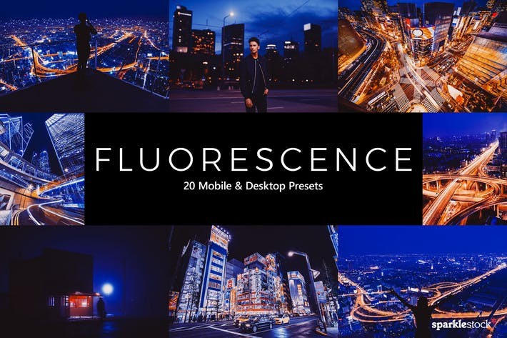 Thumbnail for 20 Fluorescence Lightroom Presets & LUTs