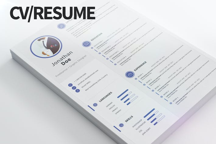 Cvresume Modern And Clean By Pulsecolor On Envato Elements - Cv-clean-resume