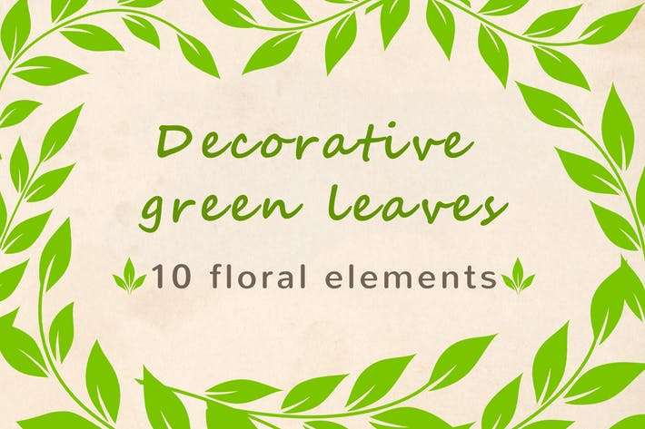 Thumbnail for Decorative Green Leaves