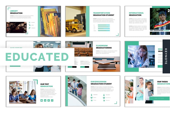 Thumbnail for Educated - Keynote Template