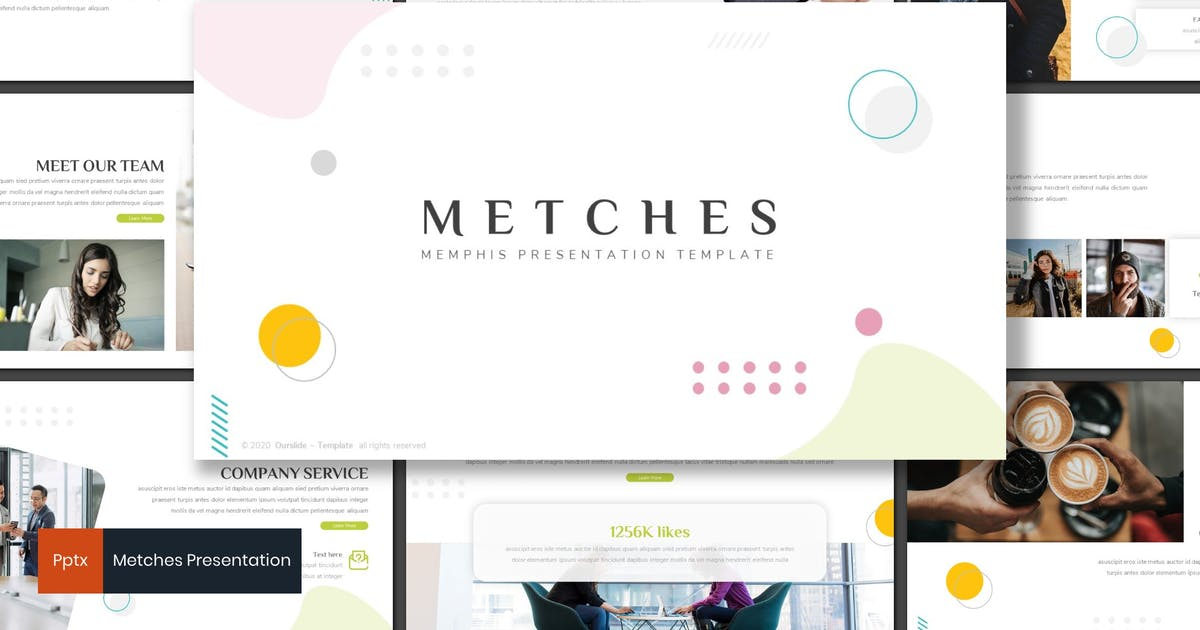 Download Metches - Memphis Powerpoint Template by inspirasign