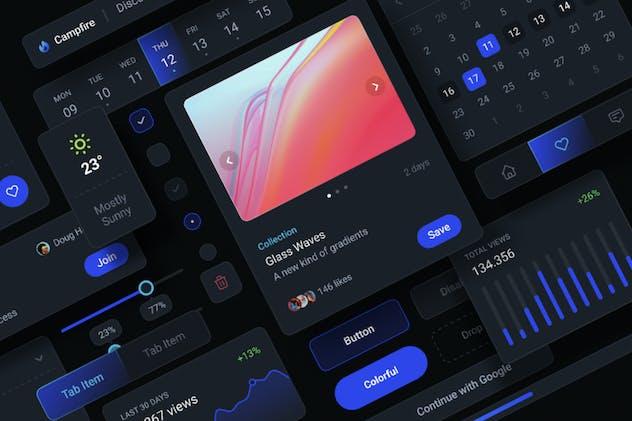 Dark Social UI-Kit