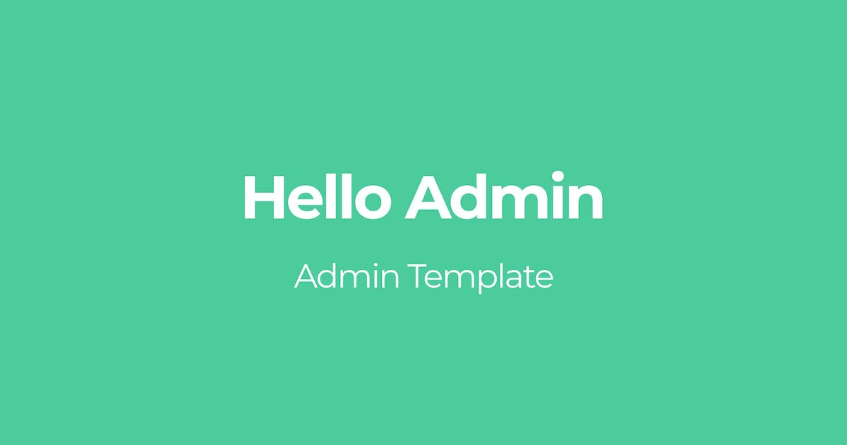 Download Hello Admin by OTWthemes