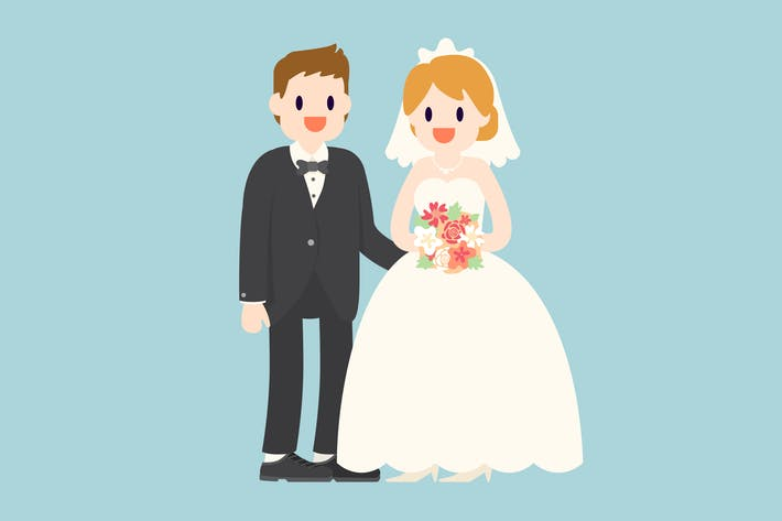 Thumbnail for Bride and Groom Illustration